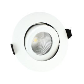 IP65 Fire Rated Tiltable LED Downlight 9W 3000K 650lm Dimmable 92mm Cutout 36 deg beam
