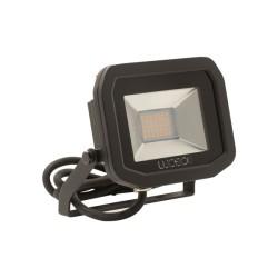 IP65 15W Slimline LED Flood Light 5000K Neutral White 1200lm in Black, Luceco Guardian LFS12B150-02