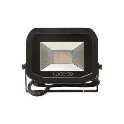 IP65 22W Slimline LED Flood Light 5000K Neutral White 1800lm in Black, Luceco Guardian LFS18B150-02