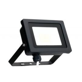 10W IP65 Black Slim CCT LED Floodlight Tri-Colour Selectable 3000K, 4000K, 6000K, All-LED Hunter 10W LED Flood