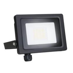 20W IP65 Black Slim CCT LED Floodlight with Tri-Colour Selectable 3000K, 4000K, 6000K, All-LED Hunter 20W LED Flood