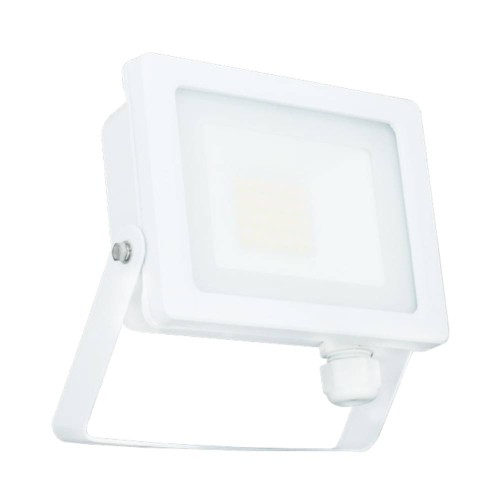 20W IP65 White Slim CCT LED Floodlight with Tri-Colour Selectable 3000K, 4000K, 6000K, All-LED Hunter 20W LED Flood