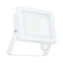 30W IP65 White Slim CCT LED Floodlight with Tri-Colour Selectable 3000K, 4000K, 6000K, All-LED Hunter 30W LED Flood