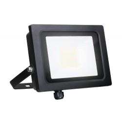 50W IP65 Black Slim CCT LED Floodlight with Tri-Colour Selectable 3000K, 4000K, 6000K, All-LED Hunter 30W LED Flood