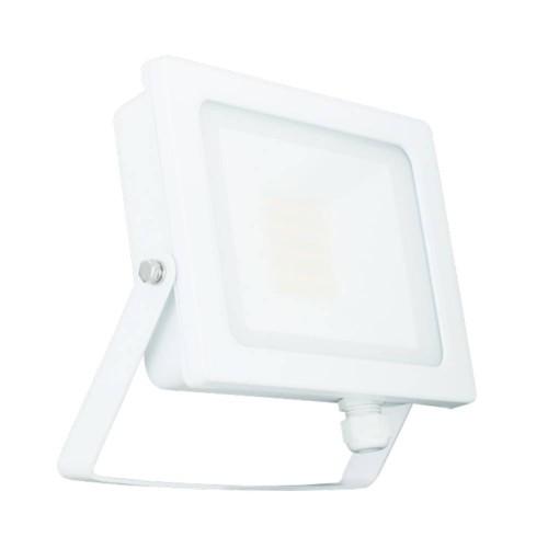 50W IP65 White Slim CCT LED Floodlight with Tri-Colour Selectable 3000K, 4000K, 6000K, All-LED Hunter 30W LED Flood