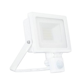 20W IP65 White Slim CCT LED Floodlight with Tri-Colour Selectable and Adustable PIR, ALL-LED AFL020/CCT/PIR Hunter LED Flood with PIR