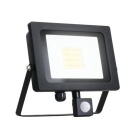30W IP65 Black Slim CCT LED Floodlight with Tri-Colour Selectable and Adjustable PIR, ALL-LED AFL030/CCT/PIR Hunter LED Flood with PIR