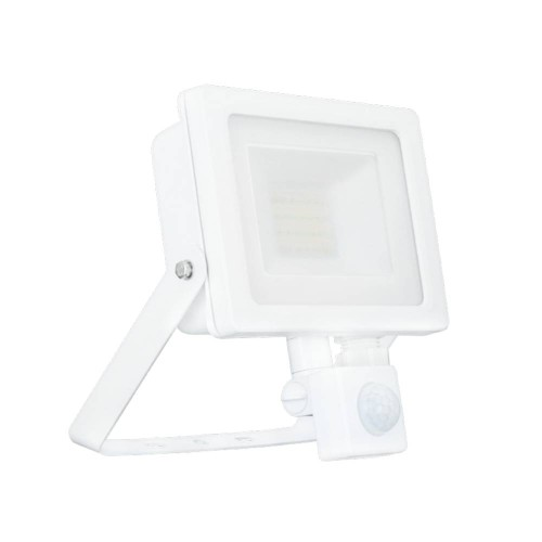 30W IP65 White Slim CCT LED Floodlight with Tri-Colour Selectable and Adjustable PIR, ALL-LED AFL030/CCT/PIR Hunter LED Flood with PIR