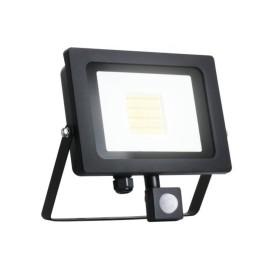 50W IP65 Black Slim CCT LED Floodlight with Tri-Colour Selectable and Adjustable PIR, ALL-LED AFL050/CCT/PIR Hunter LED Flood with PIR