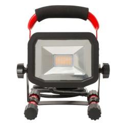 Standard Work LED Light 30W 1800lm 5000K IP65 with 2m Black Cable, Slimline Portable LED Flood