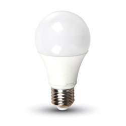 10W E27 LED Lamp Warm White 2700K 807lm A60 Thermoplastic White Non-Dimmable IP20 rated