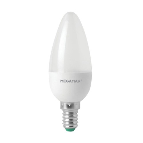 Megaman 143350 5.5W E14 LED Opal Candle 4000K Cool White 470lm Non-Dimmable Decorative LED