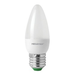 Megaman 143352 5.5W E27 LED Opal Candle 4000K Cool White 470lm Non-Dimmable Decorative LED