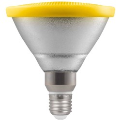 IP65 rated 13W PAR38 Yellow Coloured ES/E27 LED Lamp Non-dimmable 30deg Beam