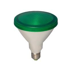 15W ES/E27 Green LED Lamp PAR38 1300lm 3000K Warm White, Non-dimmable LED Flood Light equiv. 120W