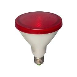 15W ES/E27 Red LED Lamp PAR38 1300lm 3000K Warm White, Non-dimmable LED Flood Light equiv. 120W