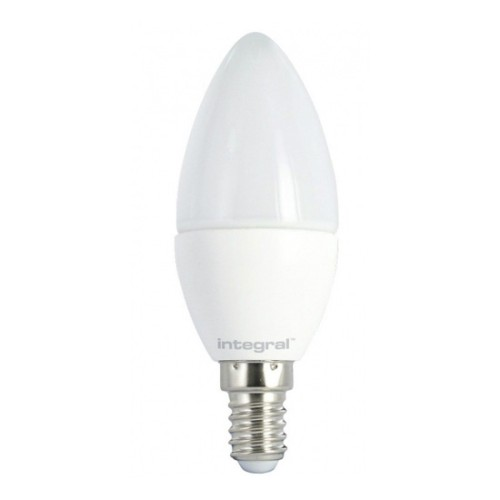 5.6W E14/SES Dimmable Candle LED Lamp 2700K Warm White 470lm Frosted Lamp Retrofit