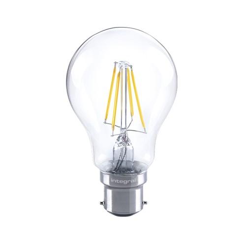 4.5W (40W) B22 Classic Globe GLS Filament LED Lamp Dimmable 2700K 470lm 300deg beam Integral LED 43-36-88