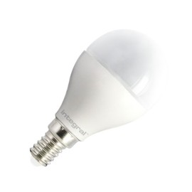 6W E14/SES Mini Golf Globe LED Lamp 2700K 470lm, Non-dimmable LED Frosted Lamp equiv. 40W