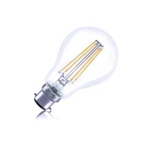 8W BC/B22 Non-Dimmable Filament LED Lamp 2700K 1055lm GLS Classic Globe 330deg Beam Angle