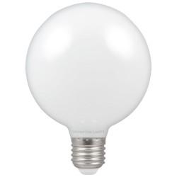 7W ES/E27 LED Opal Globe Lamp G95 2700K Extra Warm White 806lm, Dimmable LED Filament Globe Crompton 12677