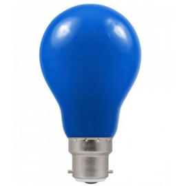 1.5W BC-B22d Blue Coloured LED Lamp with GLS shape and IP65 Rating, Non-Dimmable