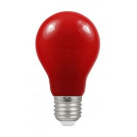 1.5W ES/E27 Red Coloured LED Lamp with GLS shape and IP65 Rating, Non-Dimmable