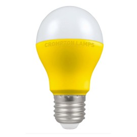 110V 9.5W LED ES/E27 GLS 2700K 806lm Thermal Plastic Yellow Body and Opal Lens Non-Dimmable
