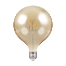 7.5W ES/E27 Dimmable LED Filament Globe Lamp 2200K 638lm, Round Vintage Lamp Antique Bronze