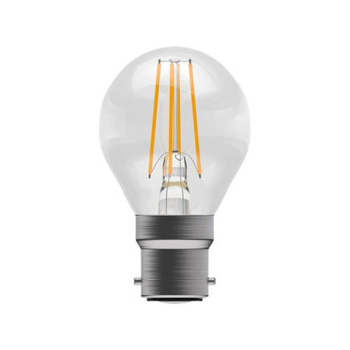 4W BC/B22 Filament Round LED Lamp 2700K 470lm Clear, Non-Dimmable Filament LED Lamp