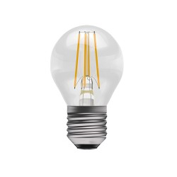 4W ES/E27 2700K LED Dimmable Filament Round Lamp 470lm, Clear Golf Ball Filament LED Lamp