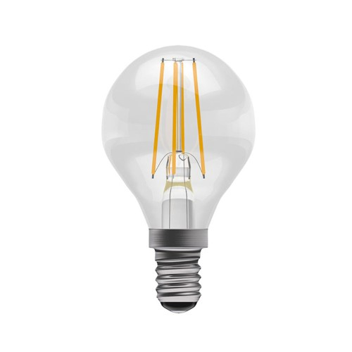 4W SES/E14 Filament LED Lamp Dimmable 2700K Clear Glass Golf Ball 470lm, BELL 05317