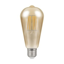 7.5W ES/E27 Dimmable LED Filament Lamp 638lm 2200K with Antique Bronze Glass