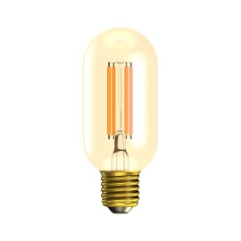 4W Vintage Tubular LED Lamp E27/ES Amber 2000K 300lm Dimmable 110mm length x 45mm diam, Bell 01501