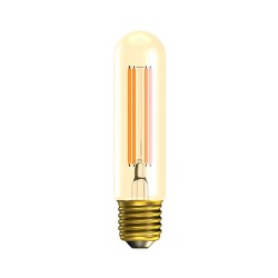 4W Vintage Tubular LED Lamp E27/ES Amber 2000K 300lm Dimmable 130mm length x 30mm diam, Bell 01443