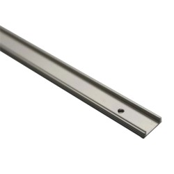 Surface Mounted Single Profile Shallow 2m Aluminium Extrusion (no diffuser) for LED Strips