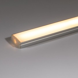Surface PRO Aluminium Profile 2m with Opal Diffuser ideal for IP20 LED Strips