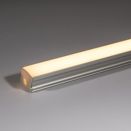 Deep Surface Mounted Aluminium Profile 2m with Opal Diffuser ideal for IP20 LED Strips