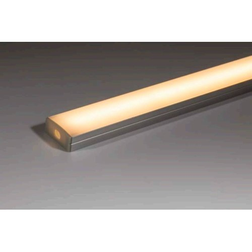 Surface Mounted 2m Anodised Aluminium Shallow Profile with Opal Diffuser for LED strips up to 20mm width