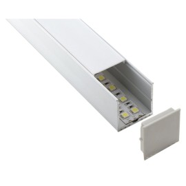 Surface Mounted 2m Aluminium Extrusion Profile with Diffuser for Single/Double Row LED Striplight
