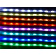 IP65 RGB Color Changing LED Striplight Kit 5m Reel 12V DC 7.2W/m c/w Power Adaptor, Remote Control, and Connection Accessories