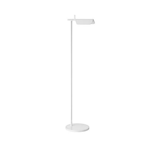Flos Tab F LED Floor Lamp in White by Edward Barber & Jay Osgerby, 9W 3000K Adjustable Lamp