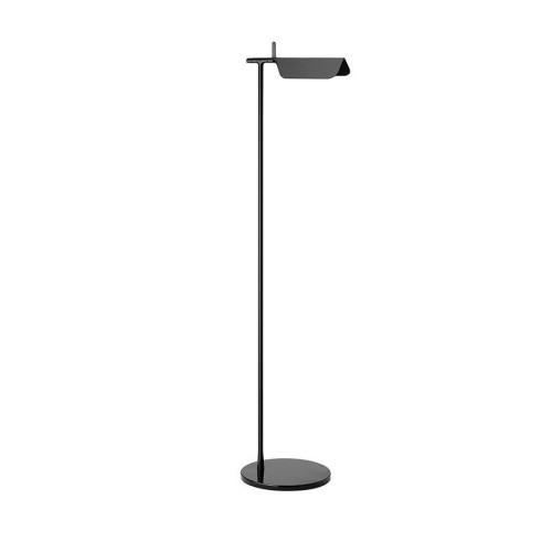 Flos Tab F LED Floor Lamp in Black by Edward Barber & Jay Osgerby, 9W 3000K 612lm Adjustable Lamp