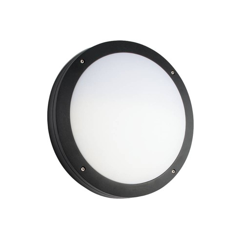 Luik Black with Plain Casing IP65 359mm Diameter Surface Mounted (Casing Only), Saxby Lighting 61646
