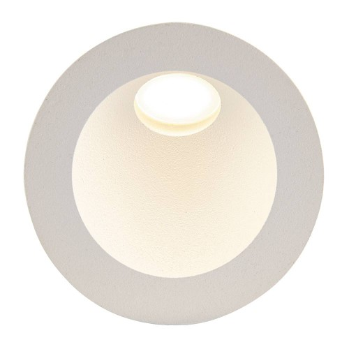 Hester IP65 Round Indirect Guide LED Light offering 4000K 2W 115lm Non-dimmable in Matt White, Saxby Lighting 79194