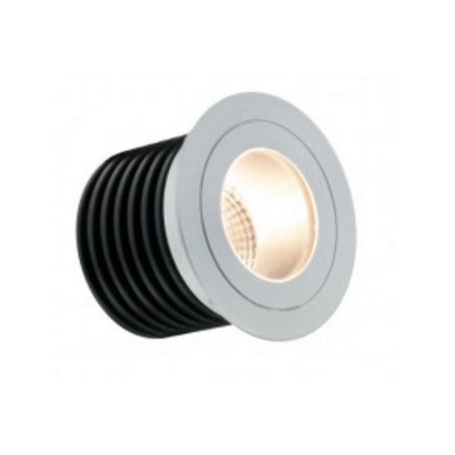 IP65 7W 3000K 410lm In-Ground Uplight LED Marker Light Low Profile Aluminium, 60mm Cutout
