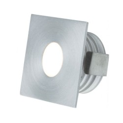 IP65 Low Level Aluminium 1W 3000K 350mA Square LED Marker Dimmable with Anti-Glare
