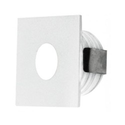 IP65 Low Level White 1W 3000K 350mA Square LED Marker Dimmable with Anti-Glare and Frosted Glass