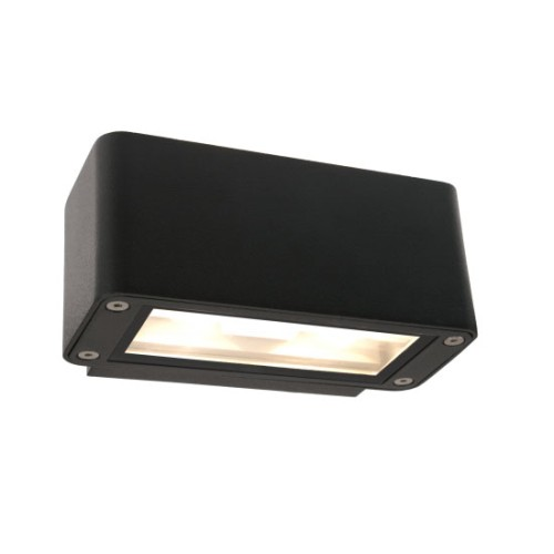 IP54 12W LED Decorative Wall Light 3000K 420lm in Anthracite Black for Up/Down Lighting