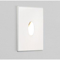 Tango 1W 3000K Square LED Wall Light in Matt White IP65 rated Dimmable LED Astro 1175001